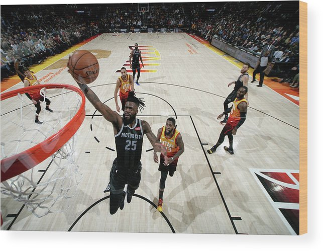 Nba Pro Basketball Wood Print featuring the photograph Reggie Bullock by Melissa Majchrzak