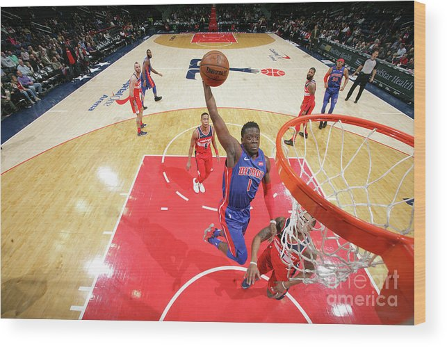 Nba Pro Basketball Wood Print featuring the photograph Reggie Jackson by Ned Dishman