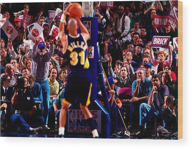 Playoffs Wood Print featuring the photograph Reggie Miller by Noren Trotman