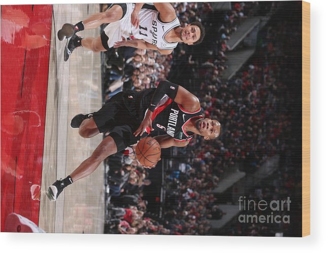 Nba Pro Basketball Wood Print featuring the photograph Rodney Hood by Sam Forencich