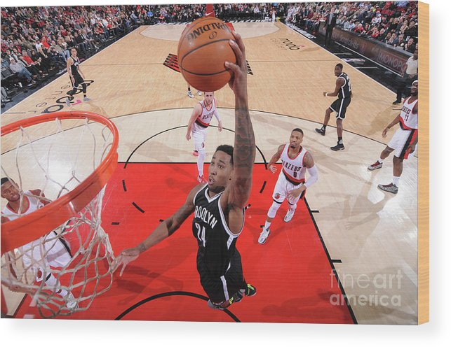 Nba Pro Basketball Wood Print featuring the photograph Rondae Hollis-jefferson by Sam Forencich