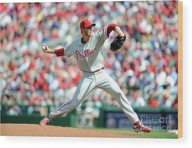 Baseball Pitcher Wood Print featuring the photograph Roy Halladay by Greg Fiume