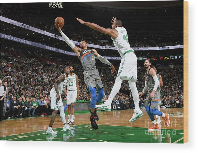 Nba Pro Basketball Wood Print featuring the photograph Russell Westbrook by Brian Babineau