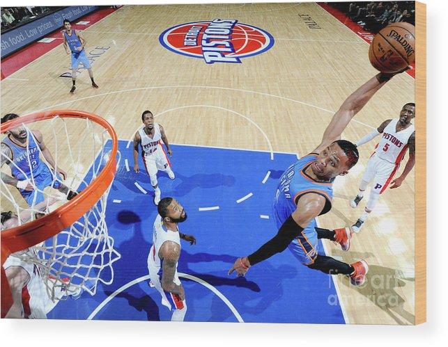 Nba Pro Basketball Wood Print featuring the photograph Russell Westbrook by Chris Schwegler
