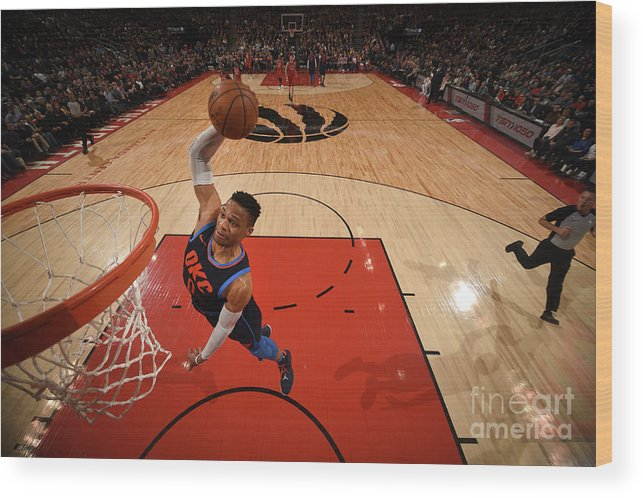 Nba Pro Basketball Wood Print featuring the photograph Russell Westbrook by Ron Turenne