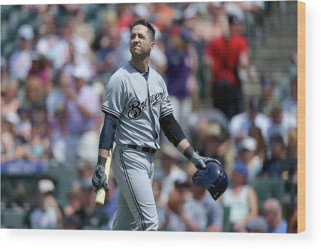 Three Quarter Length Wood Print featuring the photograph Ryan Braun by Justin Edmonds