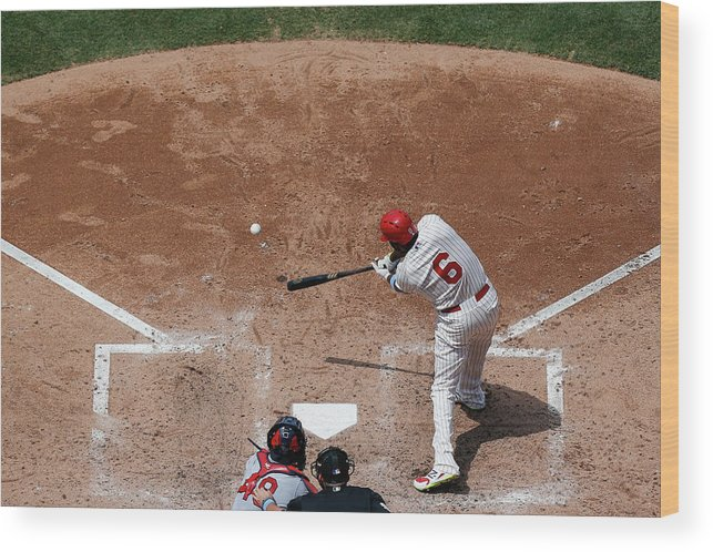 St. Louis Cardinals Wood Print featuring the photograph Ryan Howard by Brian Garfinkel