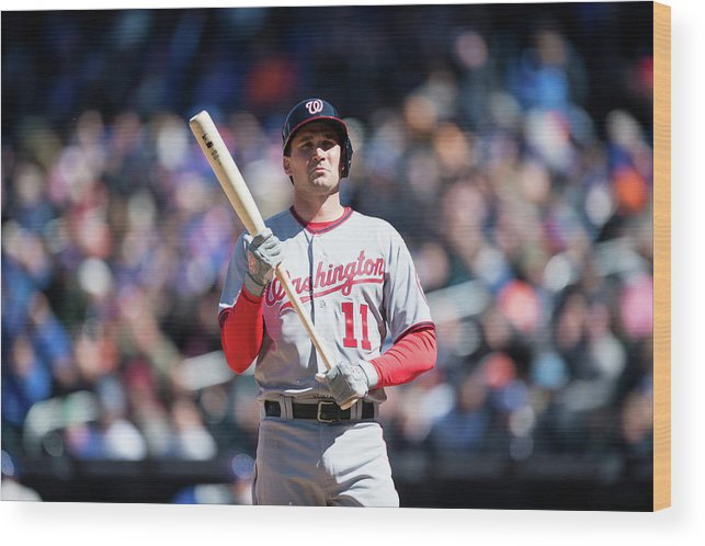 East Wood Print featuring the photograph Ryan Zimmerman by Rob Tringali