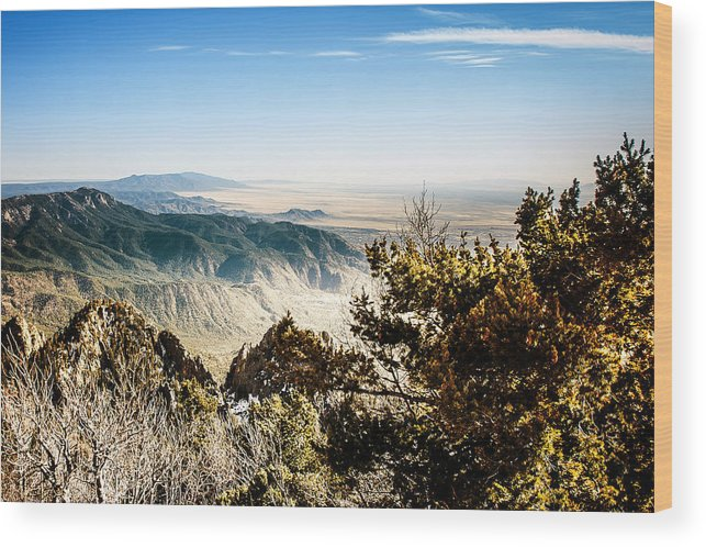 On Top Of The World Wood Print featuring the photograph Sandia Mountains - View from the Sandia Crest by Ivanastar
