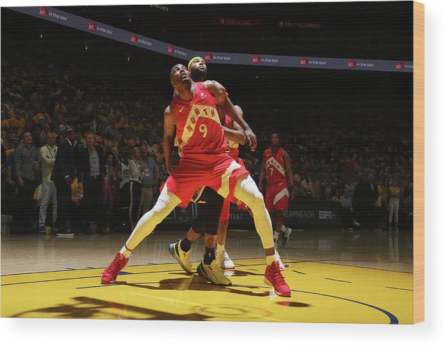 Playoffs Wood Print featuring the photograph Serge Ibaka and Demarcus Cousins by Nathaniel S. Butler