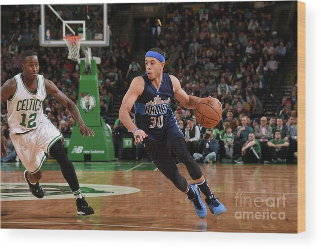 Nba Pro Basketball Wood Print featuring the photograph Seth Curry by Brian Babineau