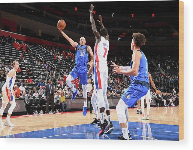 Nba Pro Basketball Wood Print featuring the photograph Seth Curry by Chris Schwegler