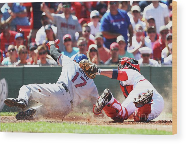 People Wood Print featuring the photograph Shin-soo Choo by Maddie Meyer