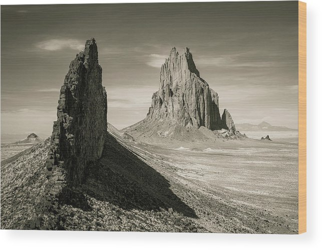 Shiprock Wood Print featuring the photograph Shiprock by Whit Richardson