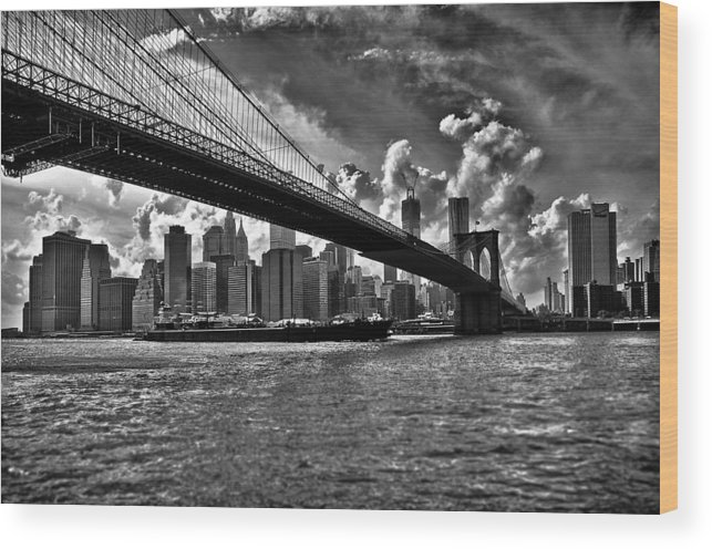 Scenics Wood Print featuring the photograph Simply New York by Alessandro Giorgi Art Photography