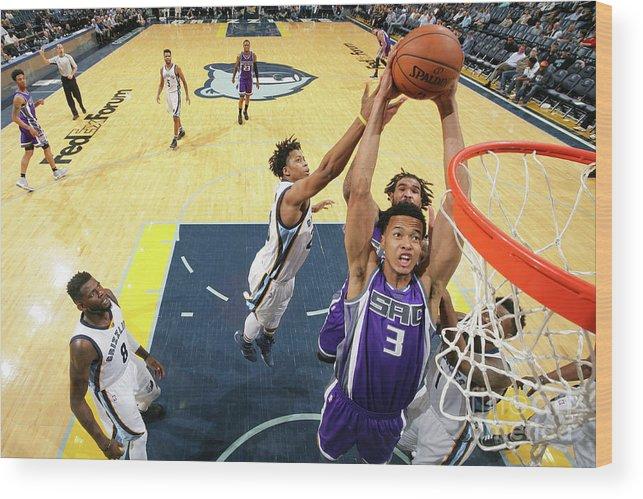 Nba Pro Basketball Wood Print featuring the photograph Skal Labissiere by Joe Murphy
