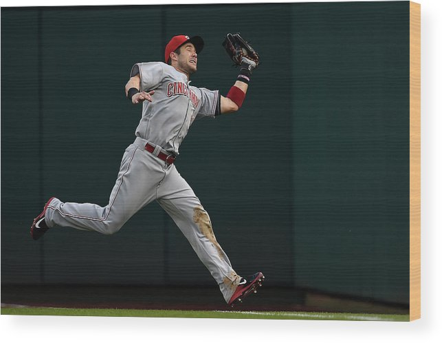 American League Baseball Wood Print featuring the photograph Skip Schumaker and Anthony Rendon by Patrick Smith