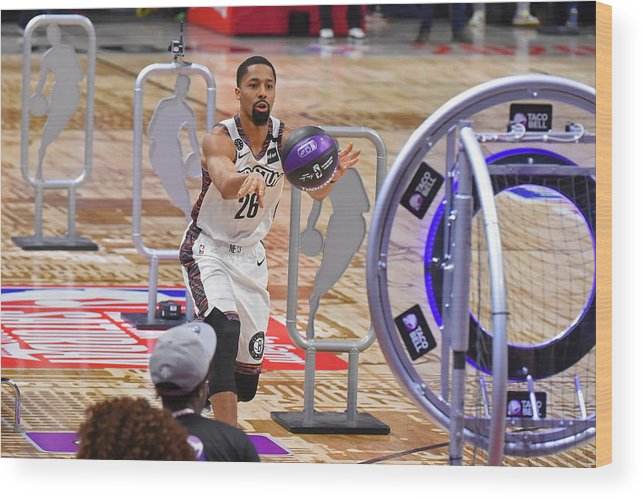 Nba Pro Basketball Wood Print featuring the photograph Spencer Dinwiddie by Bill Baptist