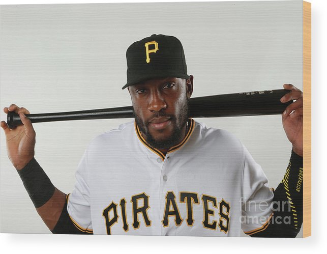 Media Day Wood Print featuring the photograph Starling Marte by Brian Blanco