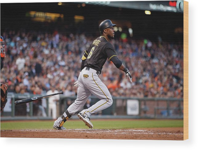 San Francisco Wood Print featuring the photograph Starling Marte by Ezra Shaw