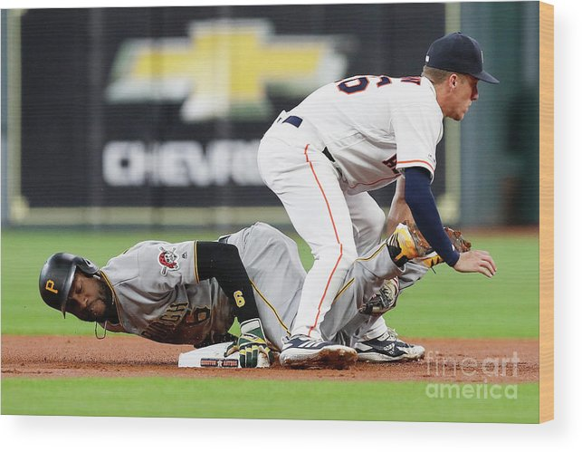 People Wood Print featuring the photograph Starling Marte by Tim Warner