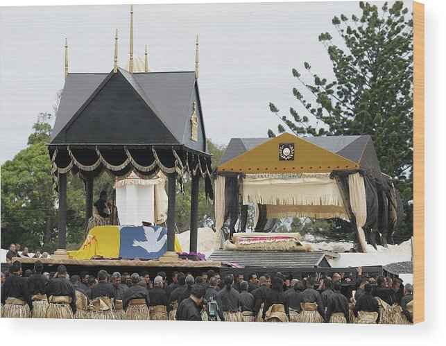 Royalty Wood Print featuring the photograph State Funeral For King Taufa'ahau Tupou IV of Tonga by Sandra Mu