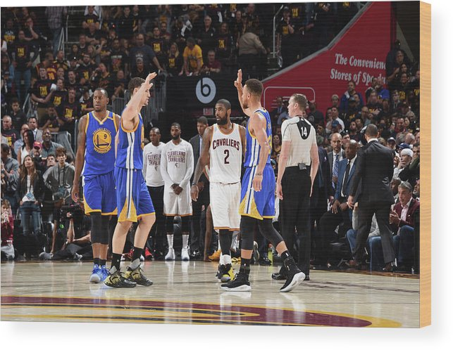 Playoffs Wood Print featuring the photograph Stephen Curry and Klay Thompson by Andrew D. Bernstein