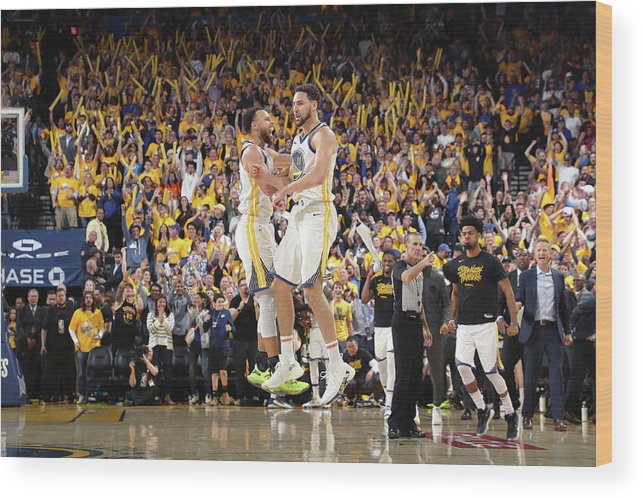 Playoffs Wood Print featuring the photograph Stephen Curry and Klay Thompson by Joe Murphy