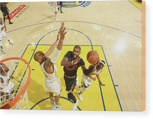 Playoffs Wood Print featuring the photograph Stephen Curry and Kyrie Irving by Jesse D. Garrabrant