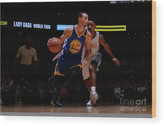 Nba Pro Basketball Wood Print featuring the photograph Stephen Curry by Bart Young