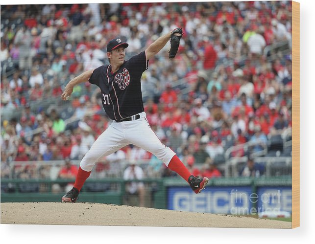People Wood Print featuring the photograph Stephen Strasburg by Rob Carr