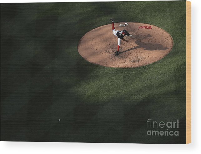 People Wood Print featuring the photograph Stephen Strasburg by Win Mcnamee