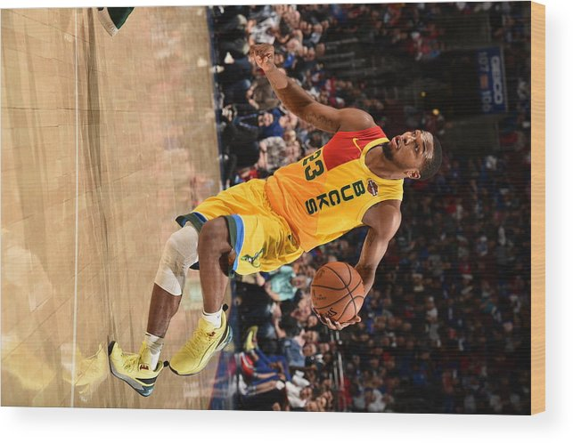 Nba Pro Basketball Wood Print featuring the photograph Sterling Brown by David Dow