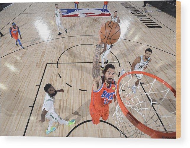 Nba Pro Basketball Wood Print featuring the photograph Steven Adams by Garrett Ellwood