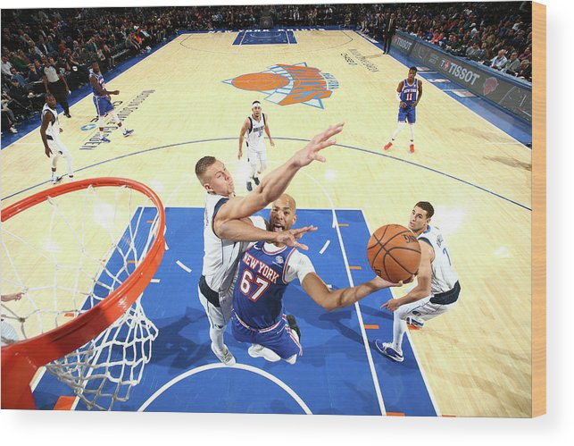 Nba Pro Basketball Wood Print featuring the photograph Taj Gibson by Nathaniel S. Butler