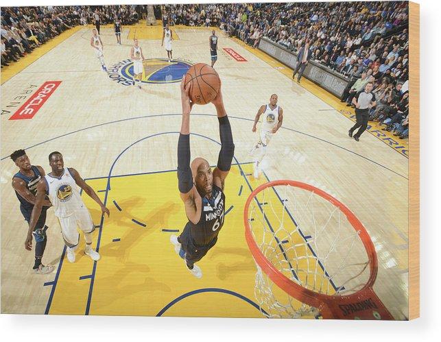 Nba Pro Basketball Wood Print featuring the photograph Taj Gibson by Noah Graham