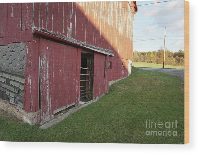 Old Farm Wood Print featuring the photograph Tattiebogle East by Chris Naggy