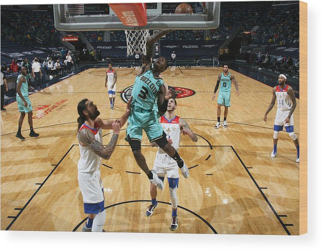 Smoothie King Center Wood Print featuring the photograph Terry Rozier by Layne Murdoch Jr.