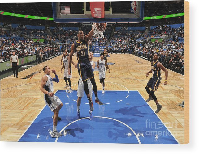 Nba Pro Basketball Wood Print featuring the photograph Thaddeus Young by Fernando Medina