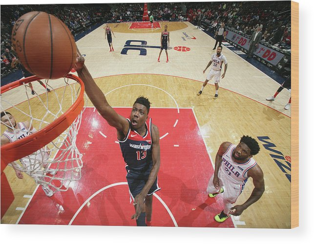 Nba Pro Basketball Wood Print featuring the photograph Thomas Bryant by Ned Dishman