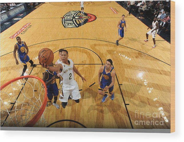 Smoothie King Center Wood Print featuring the photograph Tim Frazier by Andrew D. Bernstein