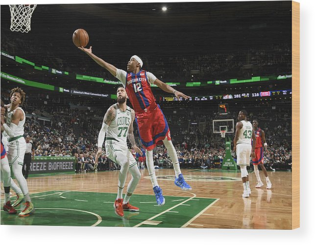 Nba Pro Basketball Wood Print featuring the photograph Tim Frazier by Brian Babineau