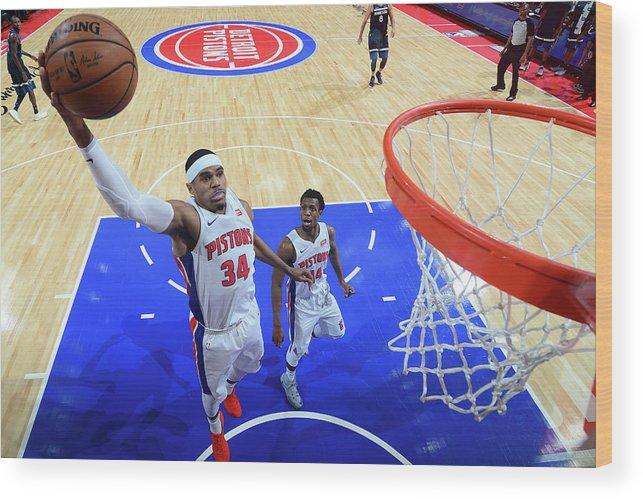 Nba Pro Basketball Wood Print featuring the photograph Tobias Harris by Chris Schwegler