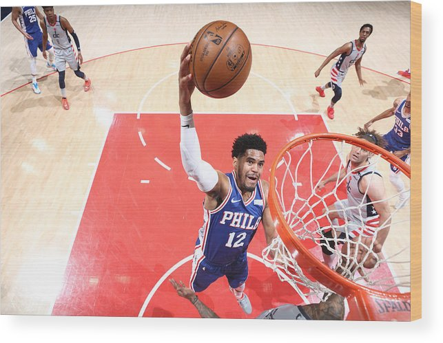 Playoffs Wood Print featuring the photograph Tobias Harris by Ned Dishman