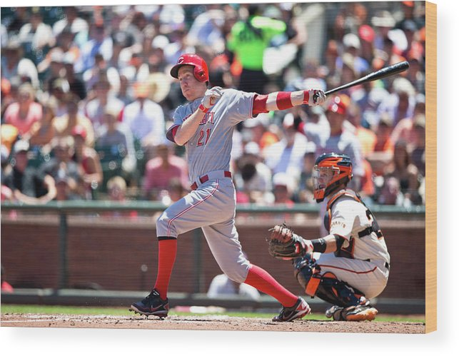 San Francisco Wood Print featuring the photograph Todd Frazier by Jason O. Watson