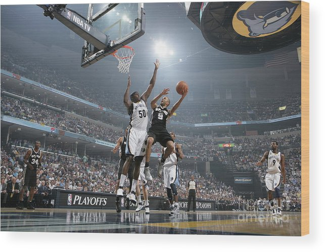 Playoffs Wood Print featuring the photograph Tony Parker by Joe Murphy