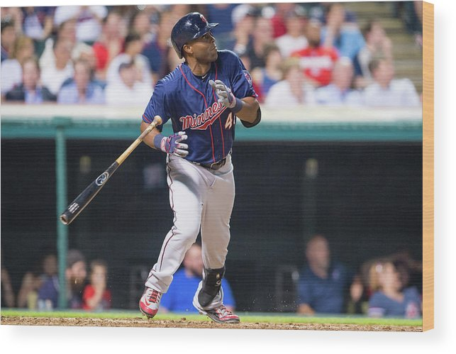 People Wood Print featuring the photograph Torii Hunter by Jason Miller