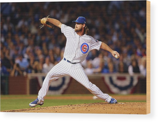 Second Inning Wood Print featuring the photograph Travis Wood by Elsa