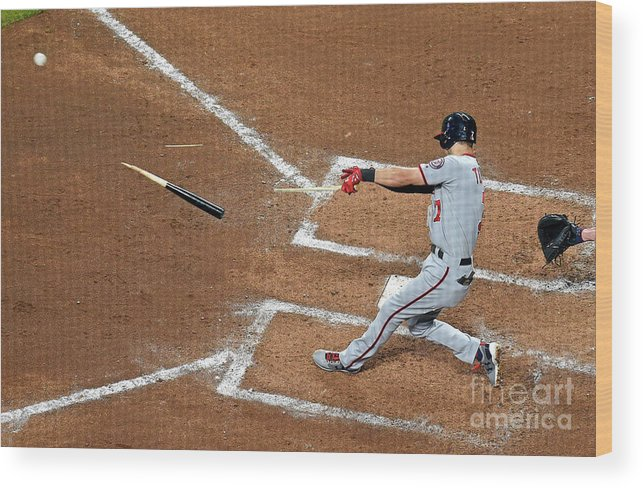 Atlanta Wood Print featuring the photograph Trea Turner by Scott Cunningham