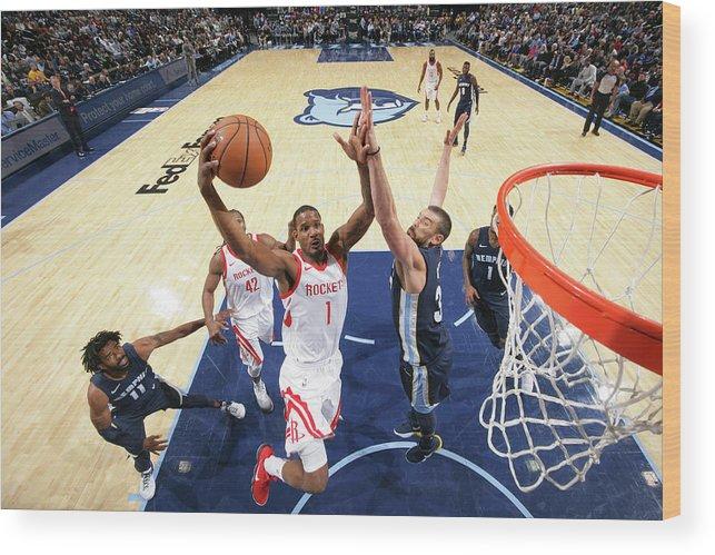 Nba Pro Basketball Wood Print featuring the photograph Trevor Ariza by Joe Murphy